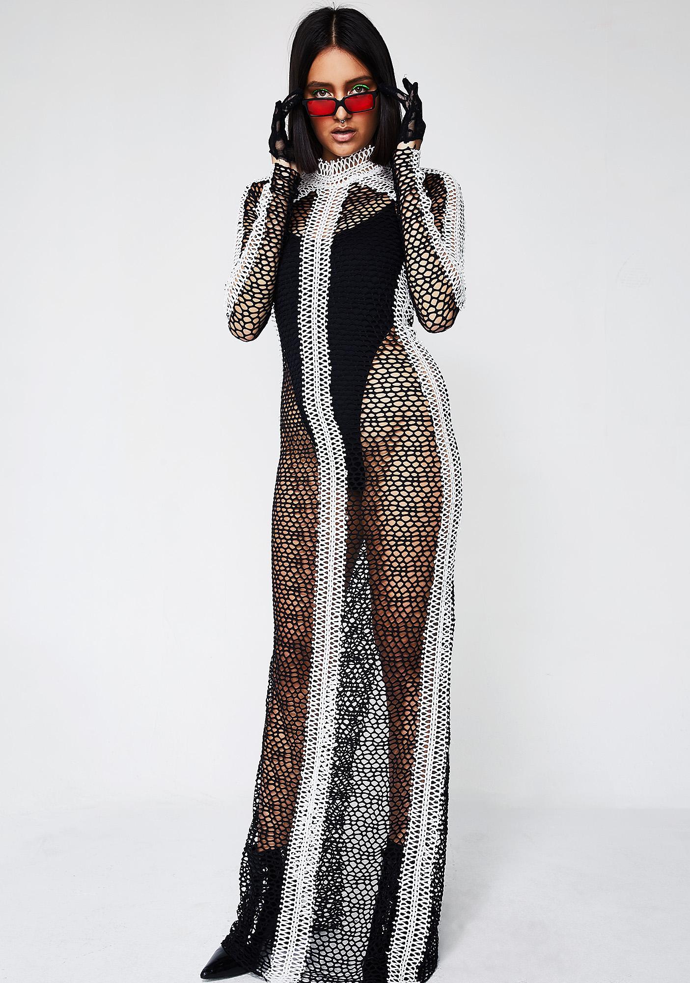 323f433e10fe Sheer Maxi Long Sleeve Dress | Dolls Kill