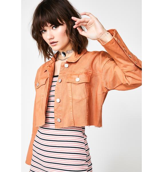 Glamorous Rusty Memory Denim Jacket