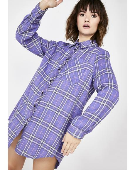 Girl Code Flannel Top