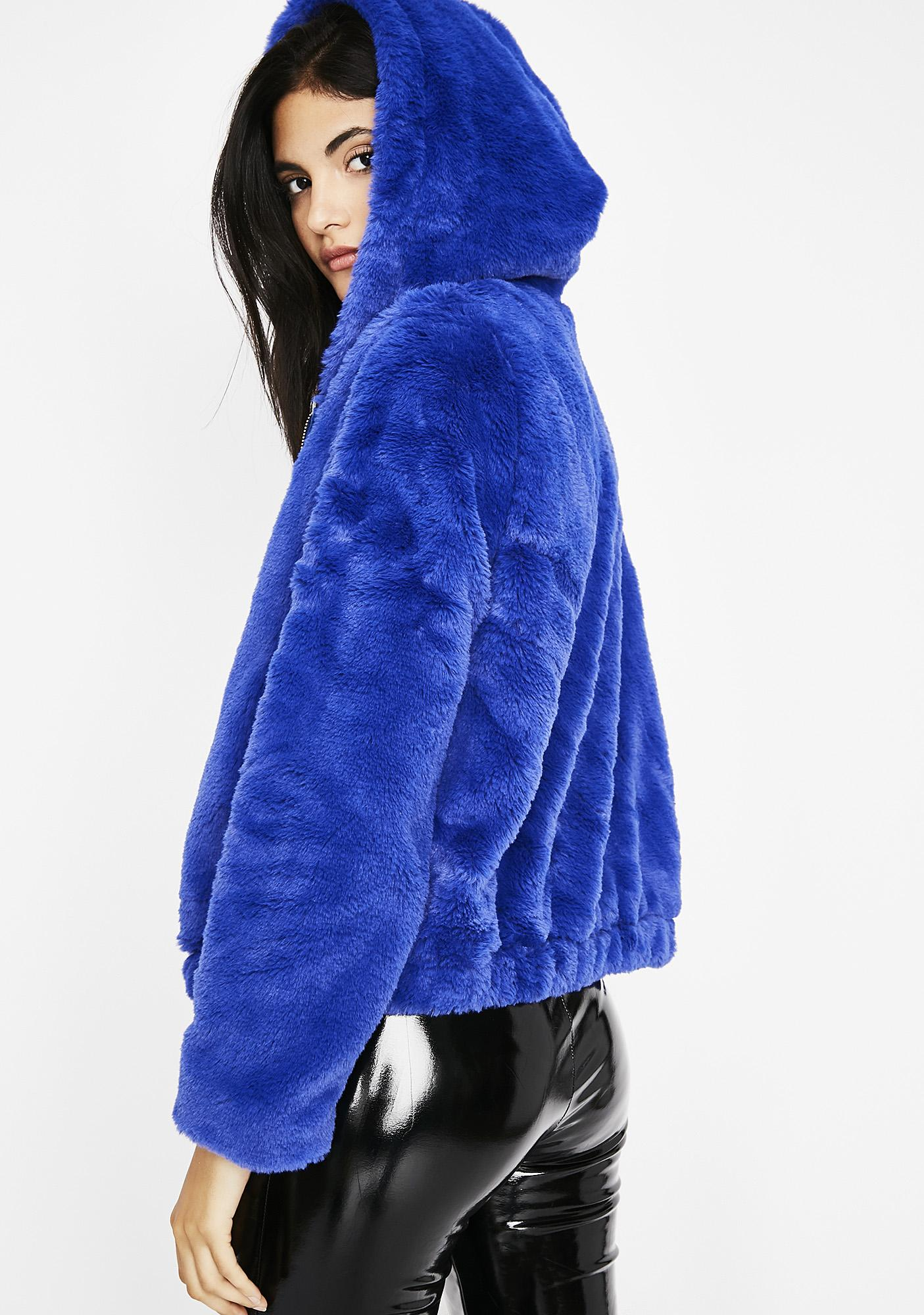 Royal Feel Me Up Furry Jacket