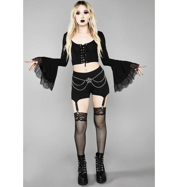 Widow Immortal Tyrant Bell Sleeve Top