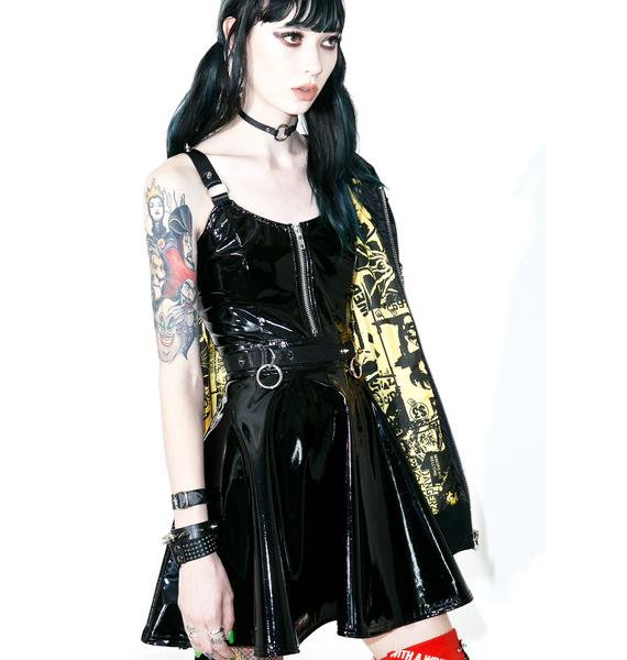 Current Mood Darby PVC Skater Dress