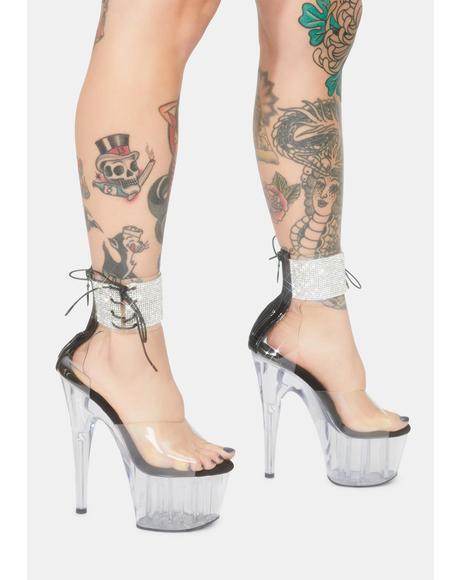 Noir Star Of The Show Platform Heels