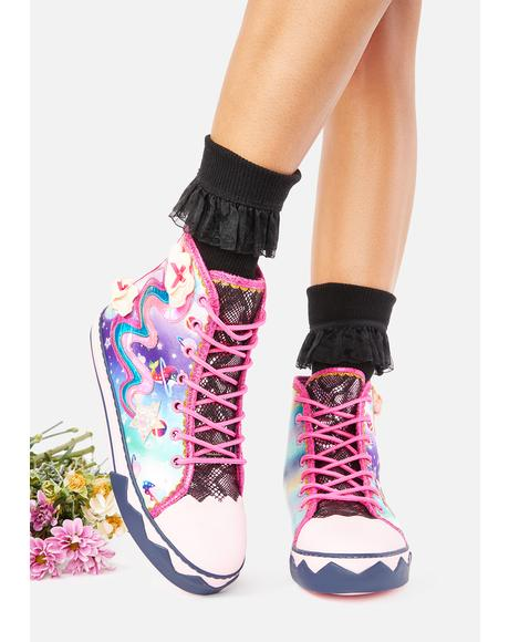 Blazing Star High Top Sneakers
