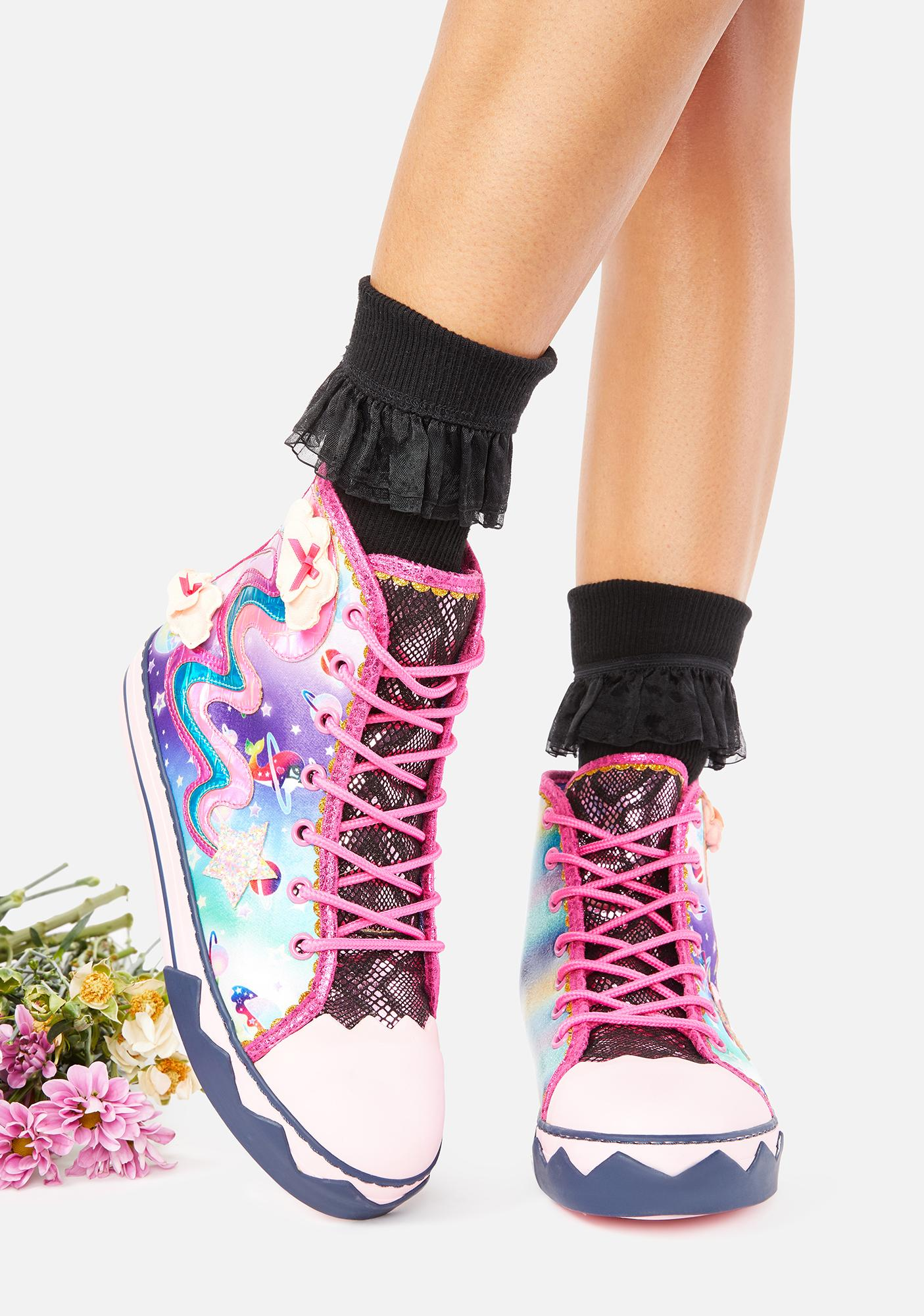 Irregular Choice Blazing Star High Top Sneakers