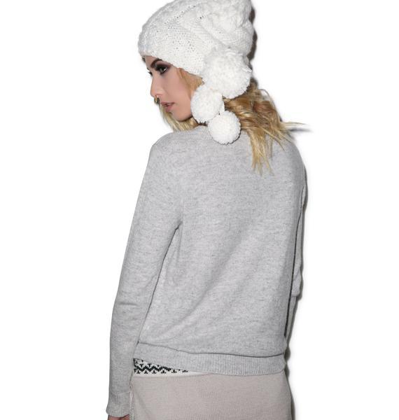For Love & Lemons Snow Bunny Sweater