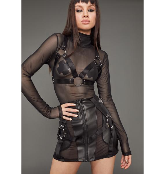Poster Grl Naughty Habits Mesh Top And Harness Set