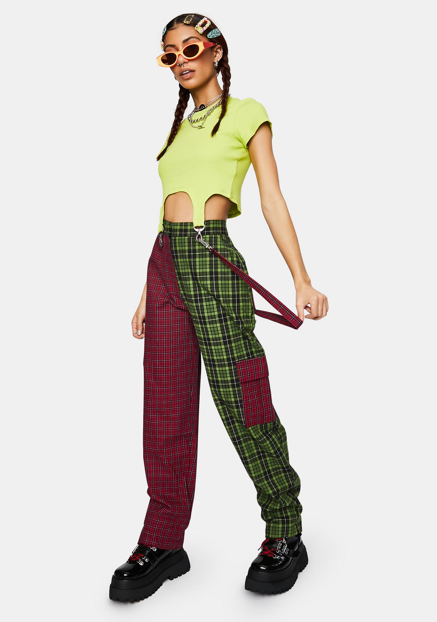 The Ragged Priest Goof Plaid Cargo Pants