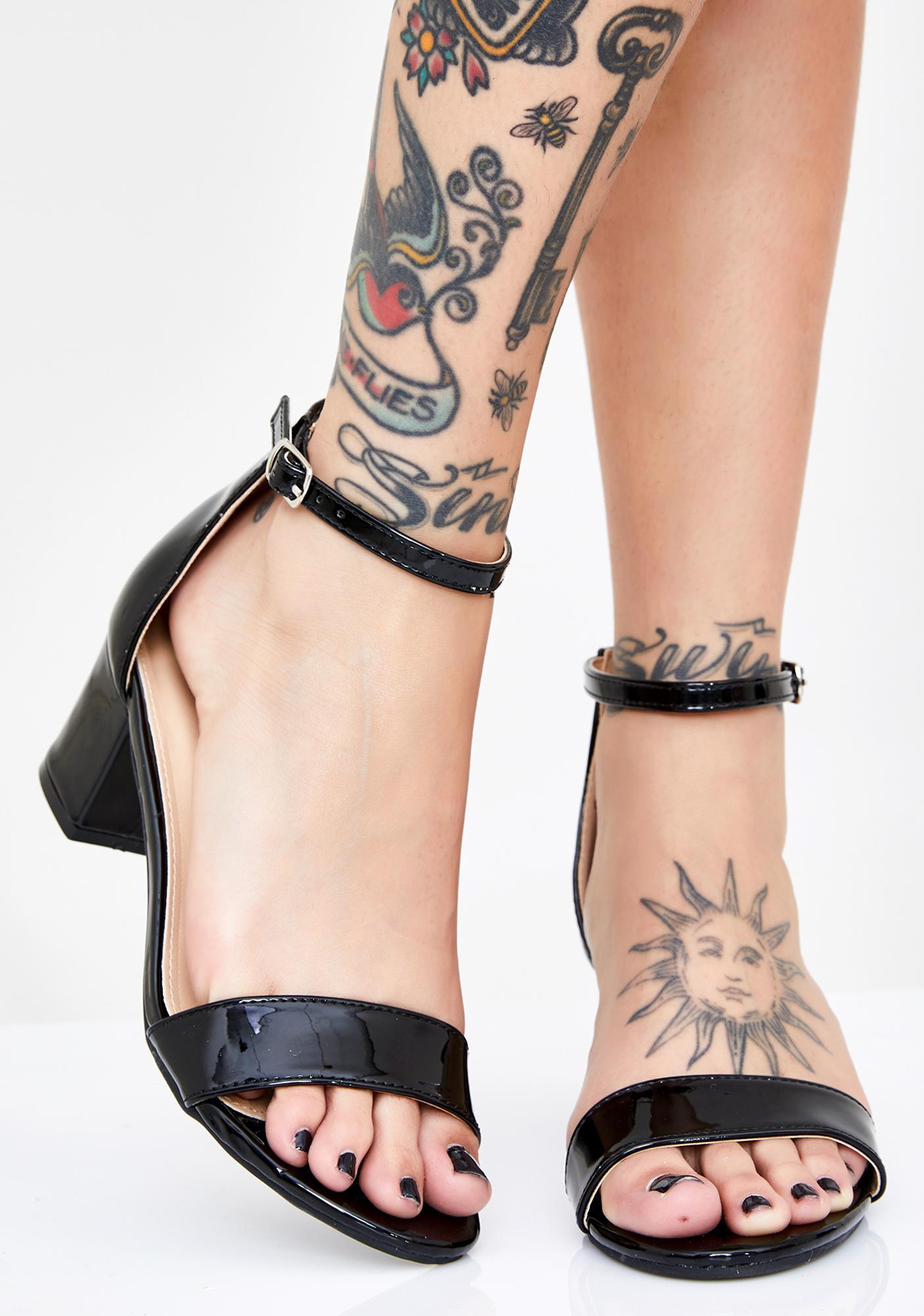 Dark Play Nice Block Heels
