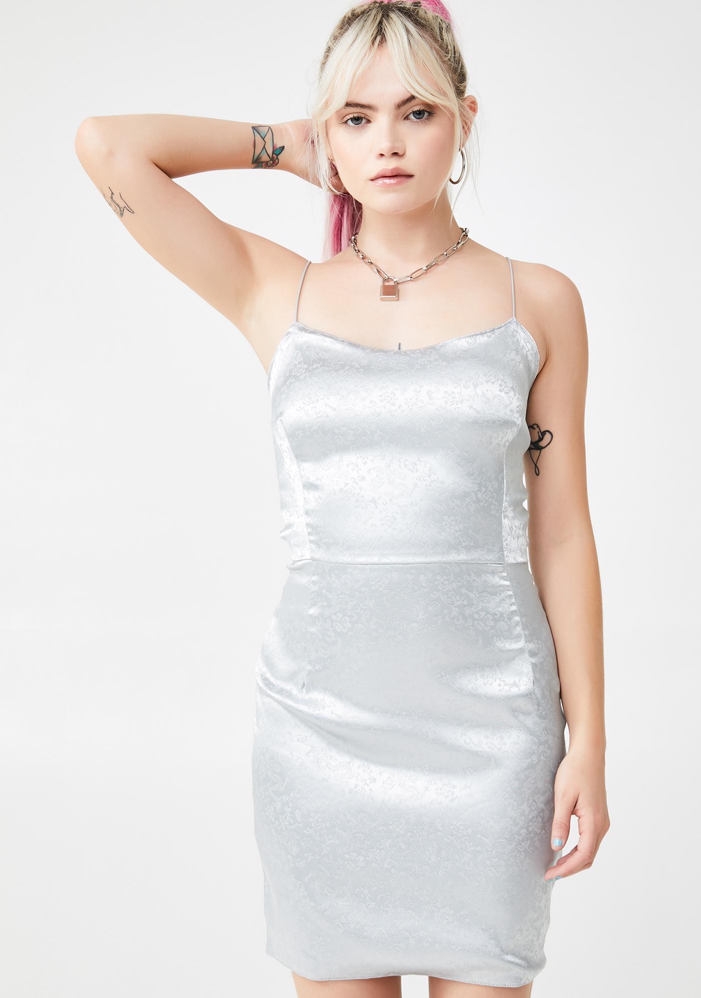 My Mum Made It Satin Strap Slip Dress