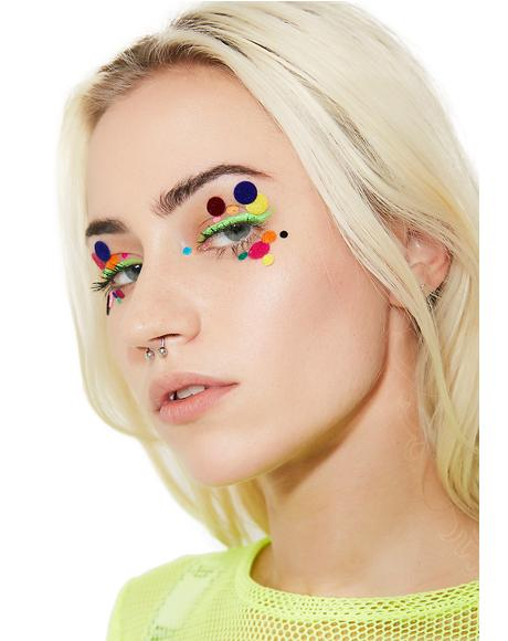 Polka Dot Face Stickers