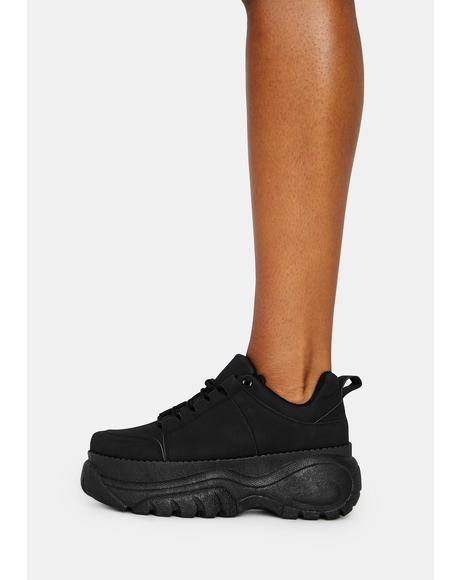 Midnight Soar High Platform Sneakers