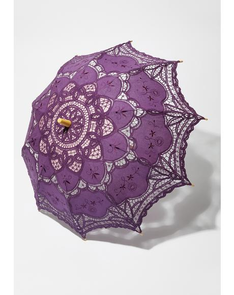 Gem Waltz After Midnight Lace Parasol