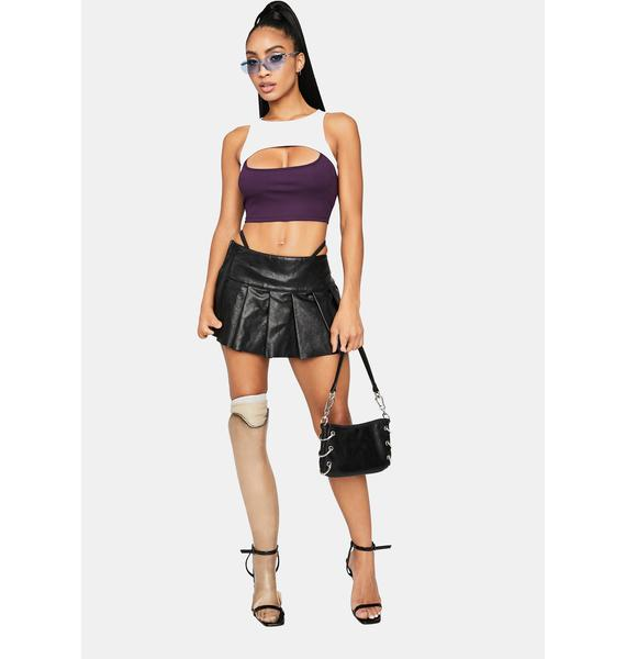 Magic Double The Trouble Two Tone Cutout Crop Top
