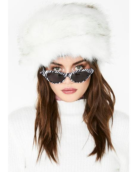Icy Flash Freeze Faux Fur Hat