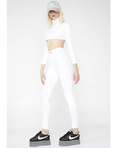 White Stripe Sweatpants