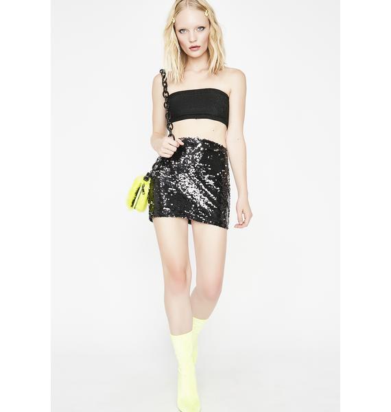 Midnight Wet Dreamin' Sequin Skirt