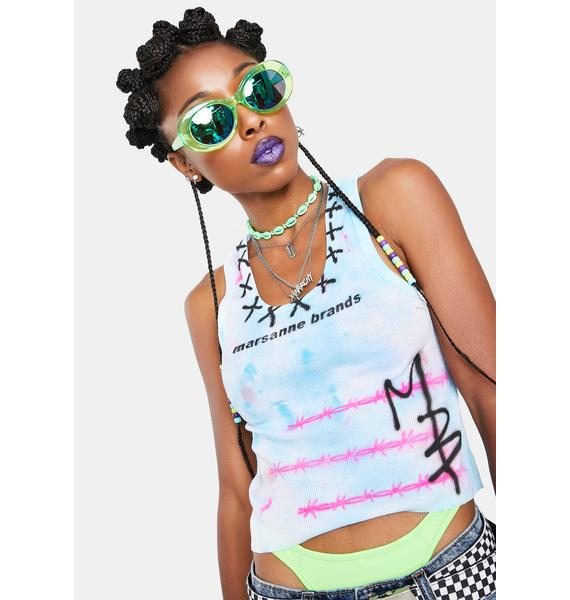 Marsanne Brands Cropped Barbed Wire Tank Top
