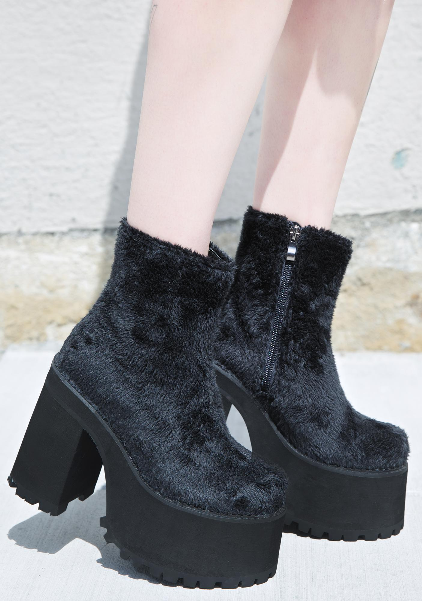 Current Mood Funky Fur Boogie Boots