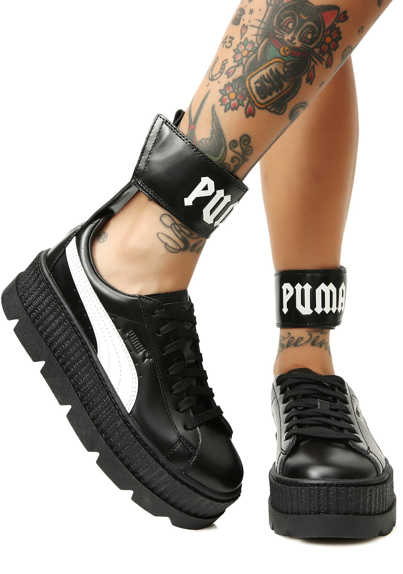 the best attitude b9215 9a9a6 Midnight FENTY PUMA by Rihanna Ankle Strap Sneakers
