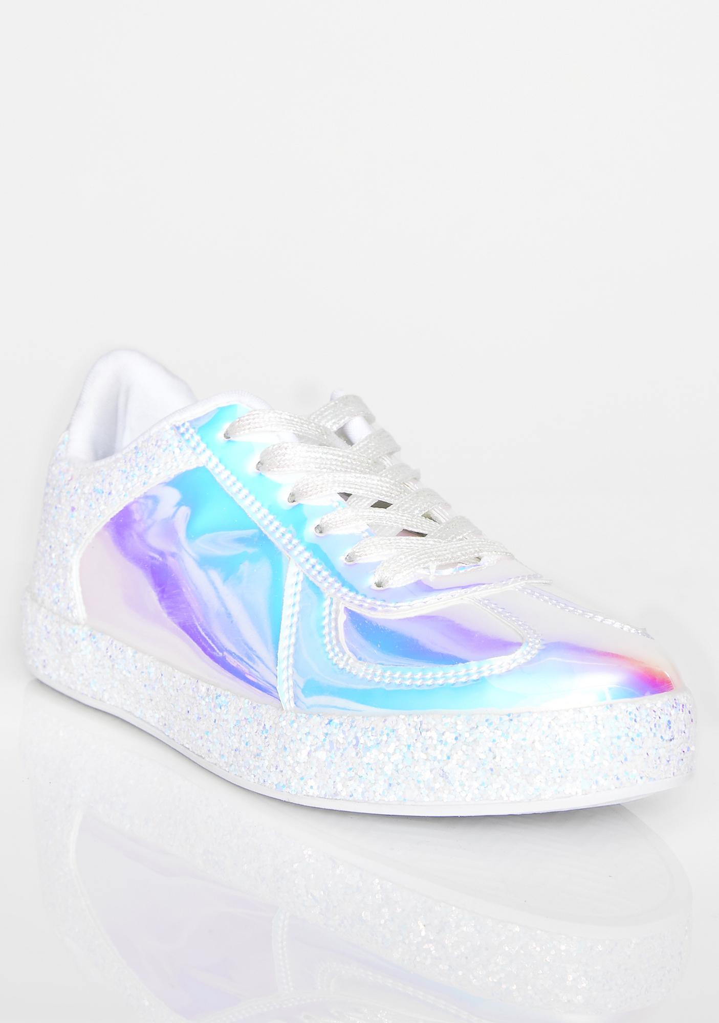 Frosty Cosmic Slide Hologram Sneakers