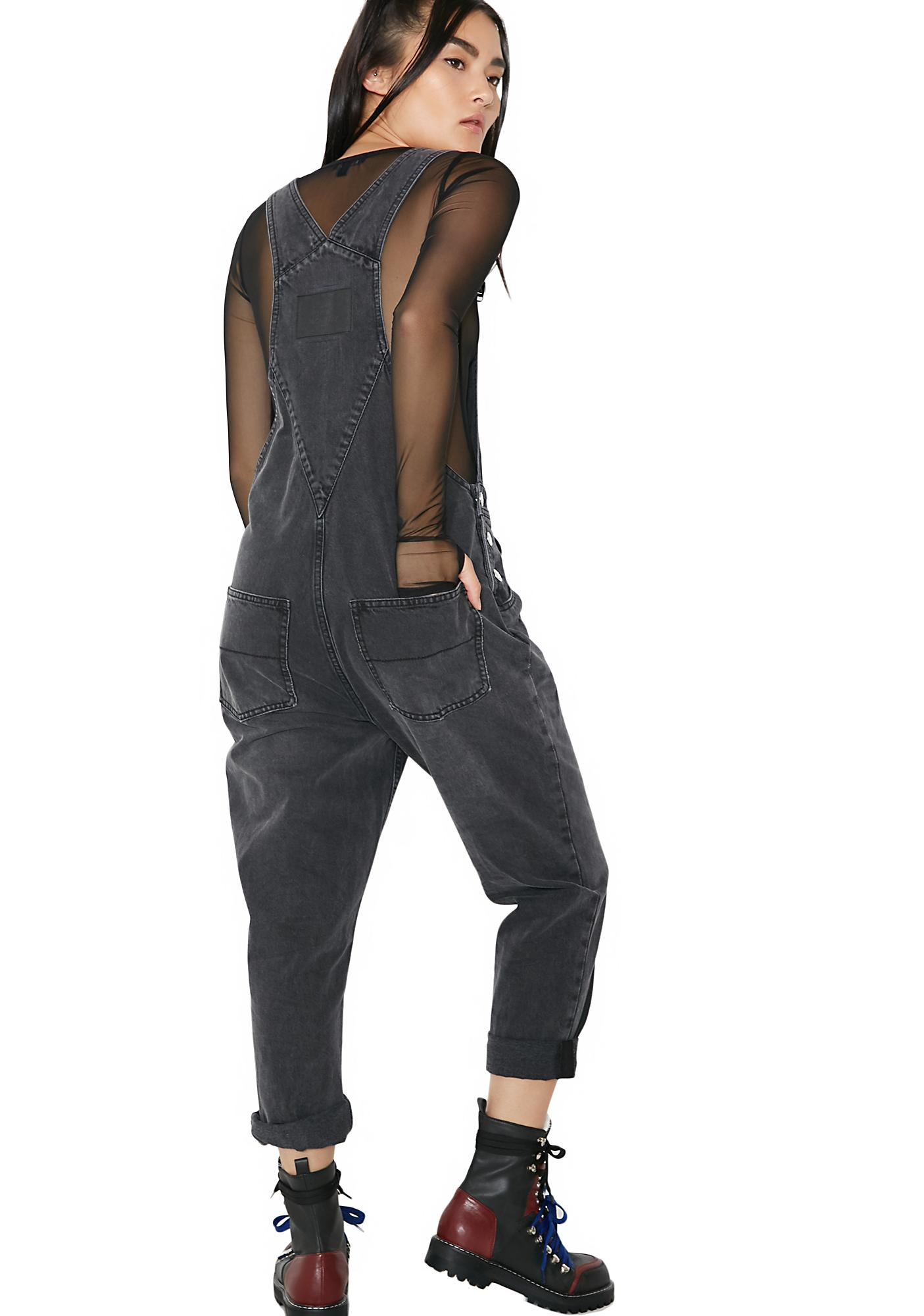 Cheap Monday Dark Chore Dungarees