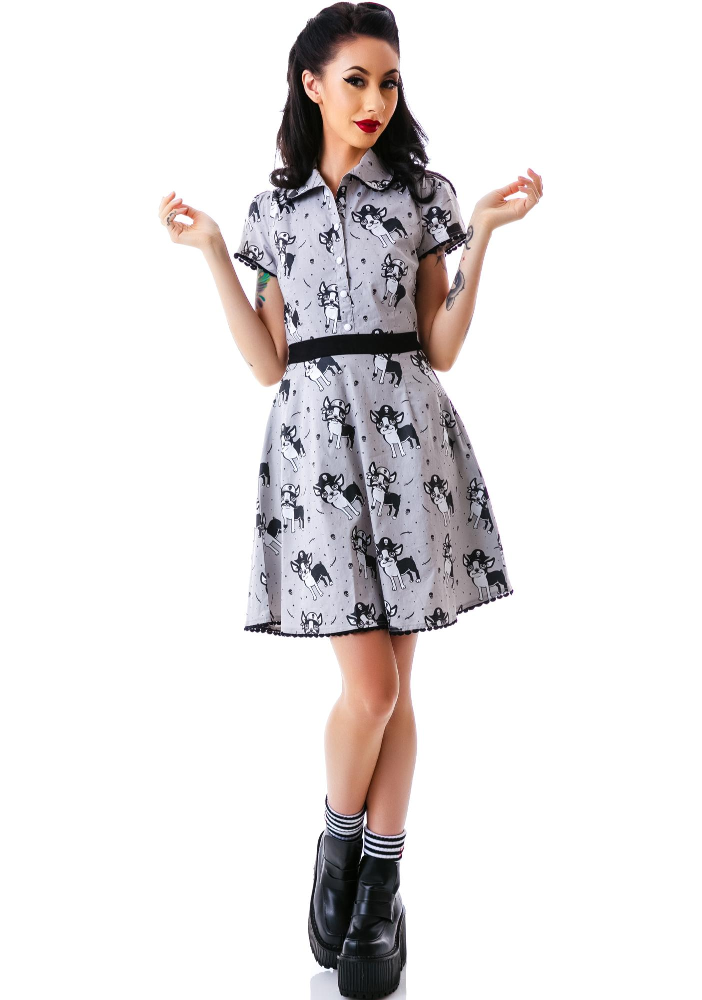 Sourpuss Clothing Rizzo Puppies Dress