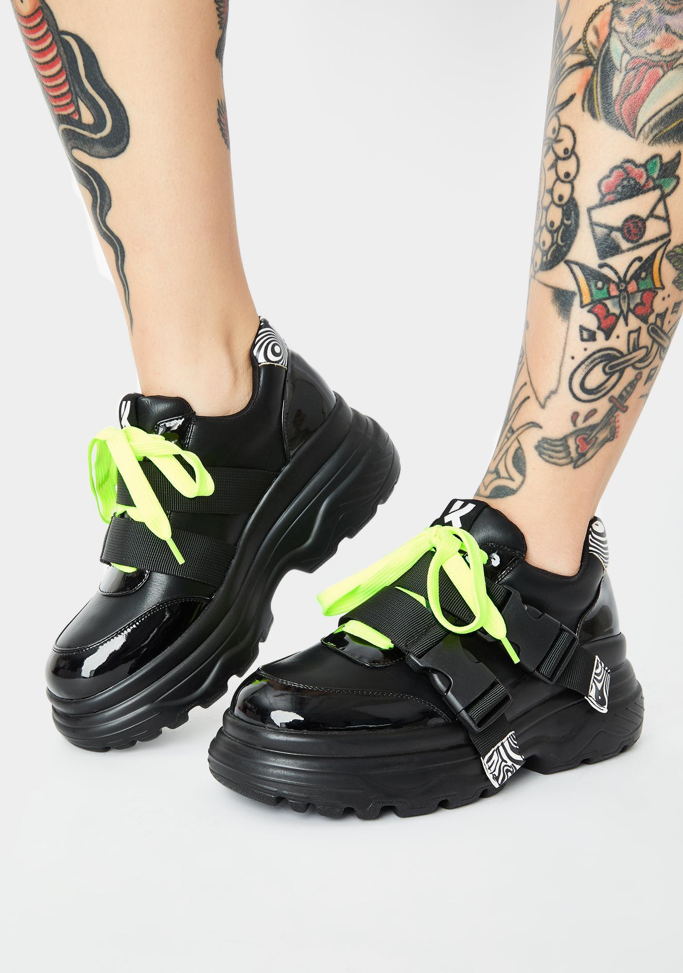 Koi Footwear Black Rom Futurist Platform Sneakers