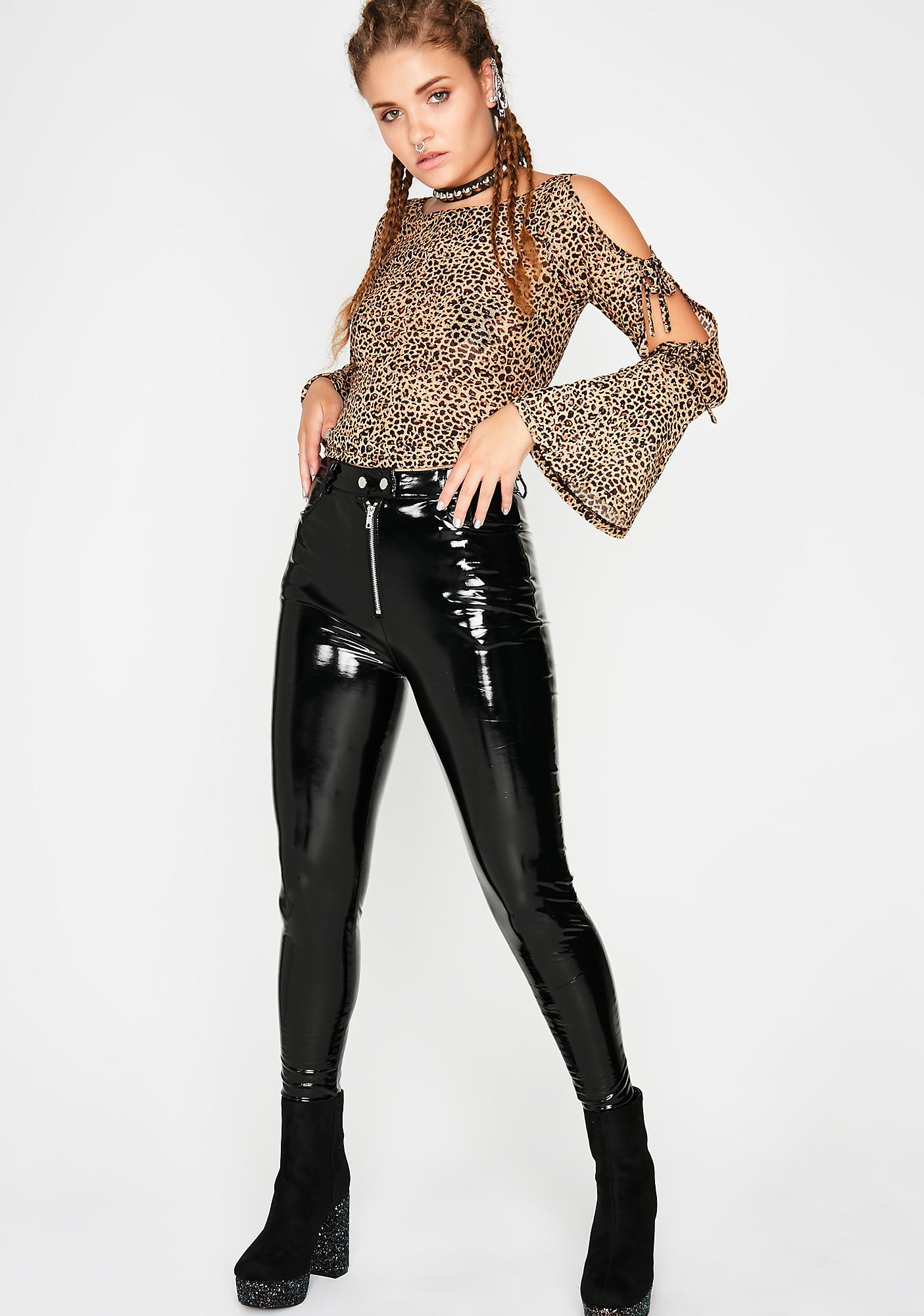 Cougar Mode Bell Sleeve Top
