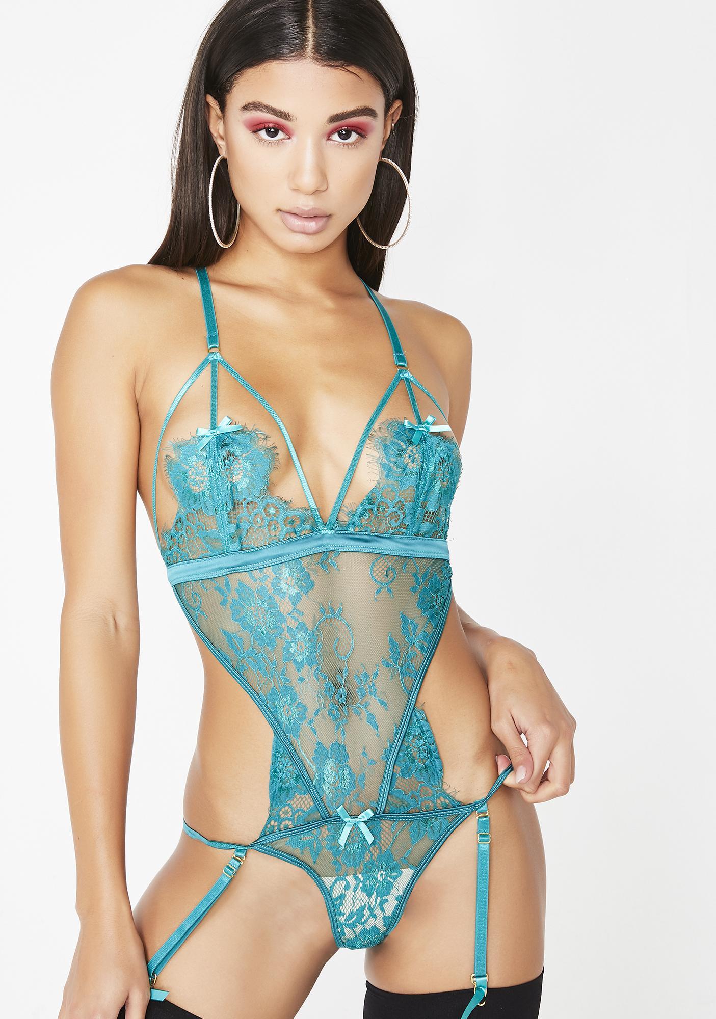 8cda6bd293f Holiday Sheer Lace Bodysuit