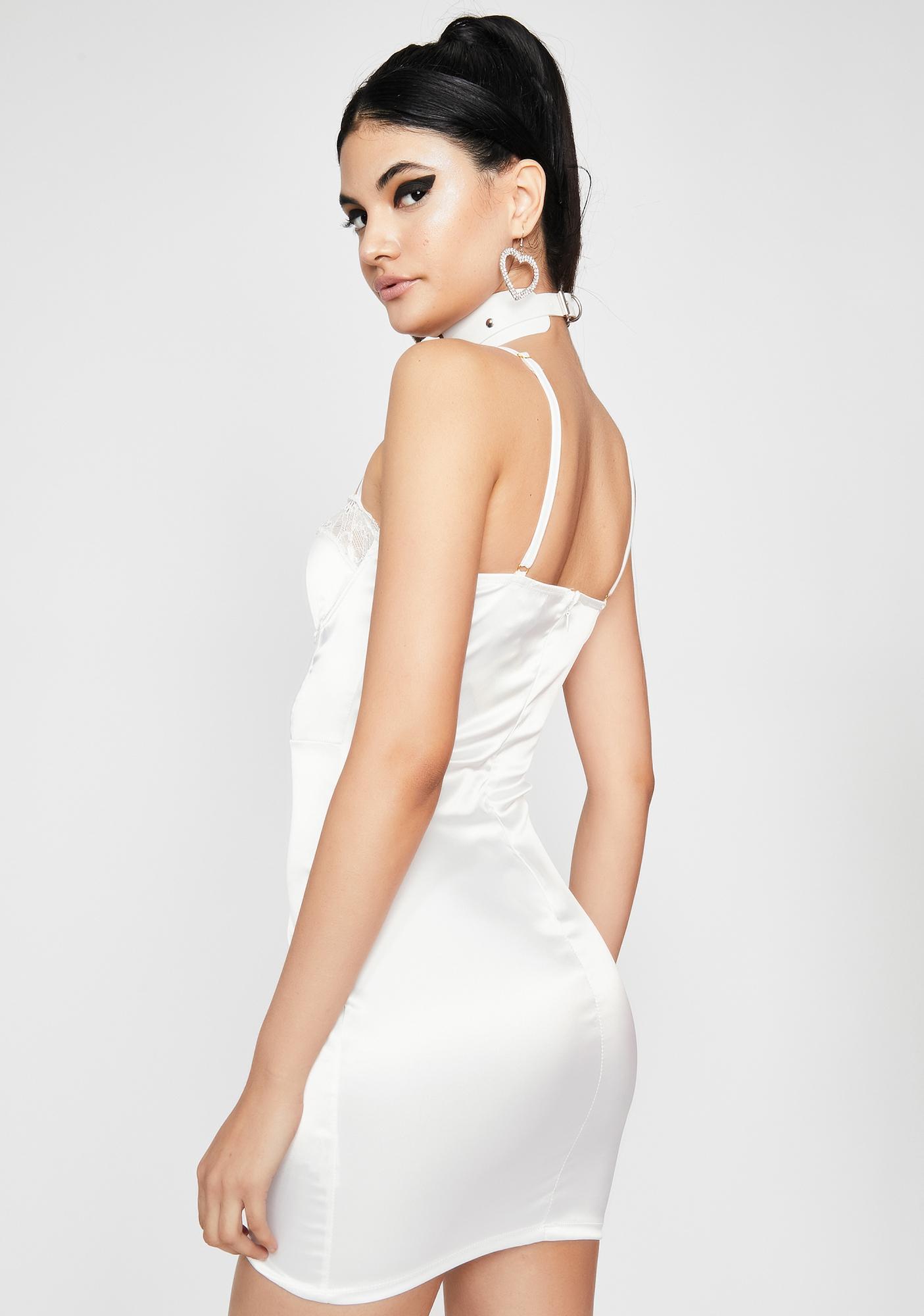 Pearl Last Lover Satin Bodycon Dress