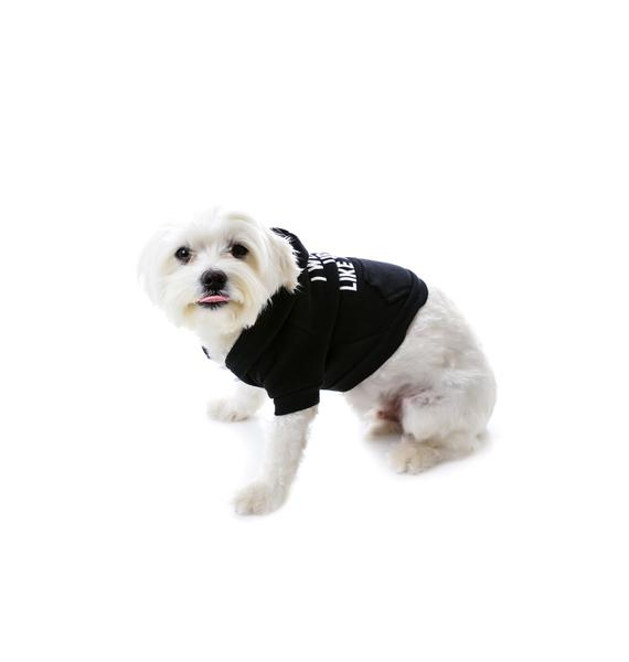 Private Party I Woke Up Like This Dog Hoodie