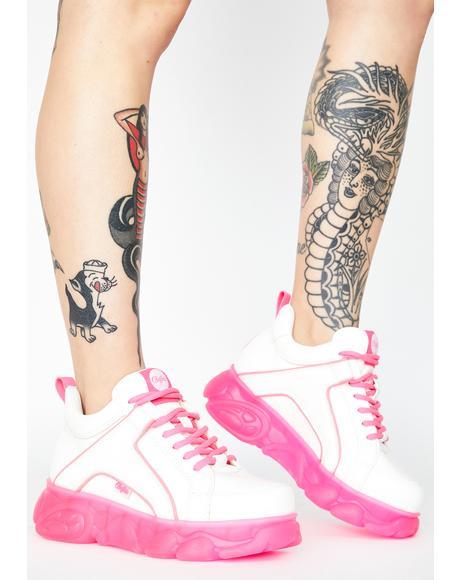 Neon Pink Corin Platform Sneakers