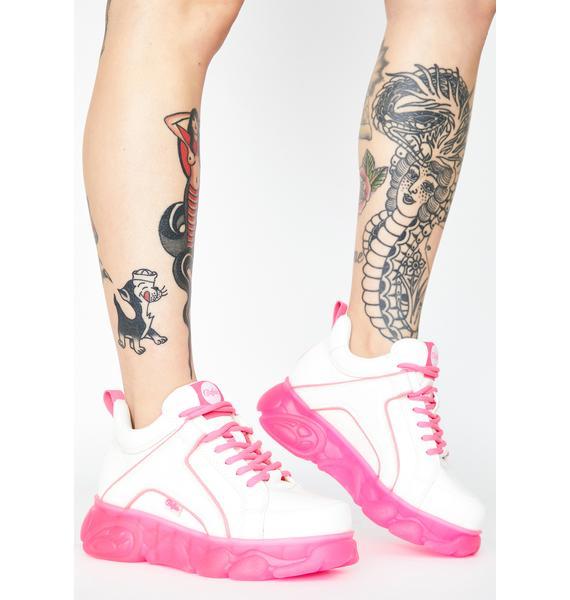 Buffalo Neon Pink Corin Platform Sneakers