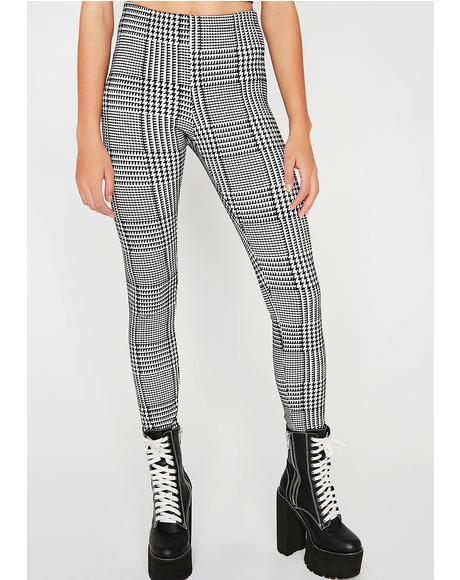 New Perspective Plaid Leggings