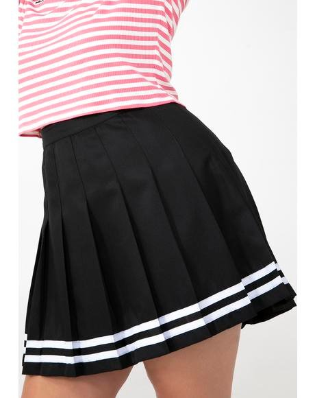 It Was Just A Kiss Pleated Skirt