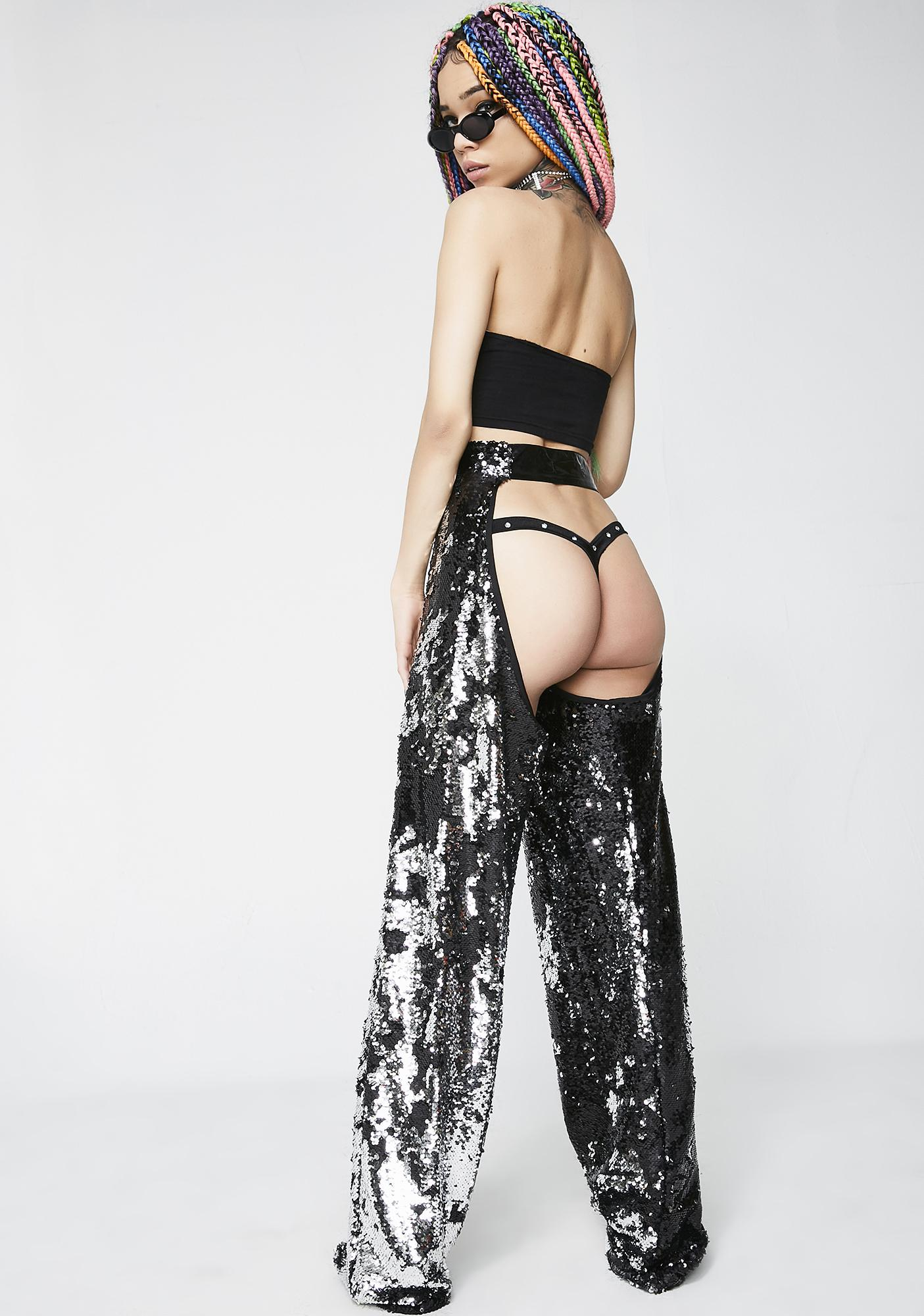 Jaded London Flip Sequin Chaps