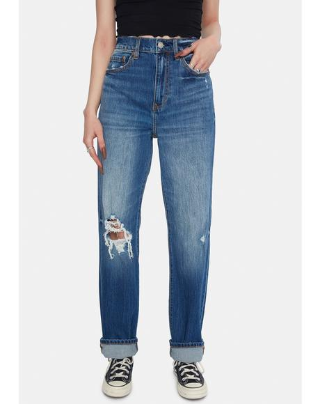 High Times Denim Dad Jeans