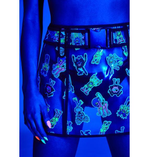Club Exx Looney Toonz Clear Skirt