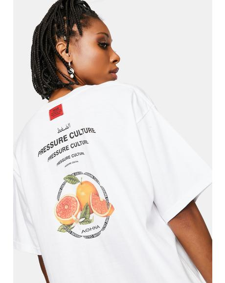 White Delta Fruits Graphic Tee