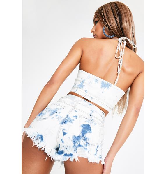 Club Exx Whiskey Smash Denim Shorts