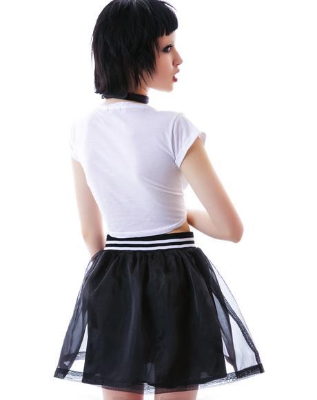 Homerun Organza Skater Skirt