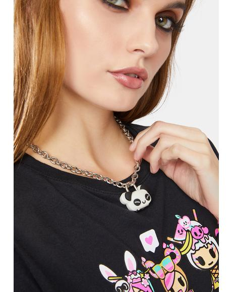 Sleeping Cutie Panda Charm Necklace