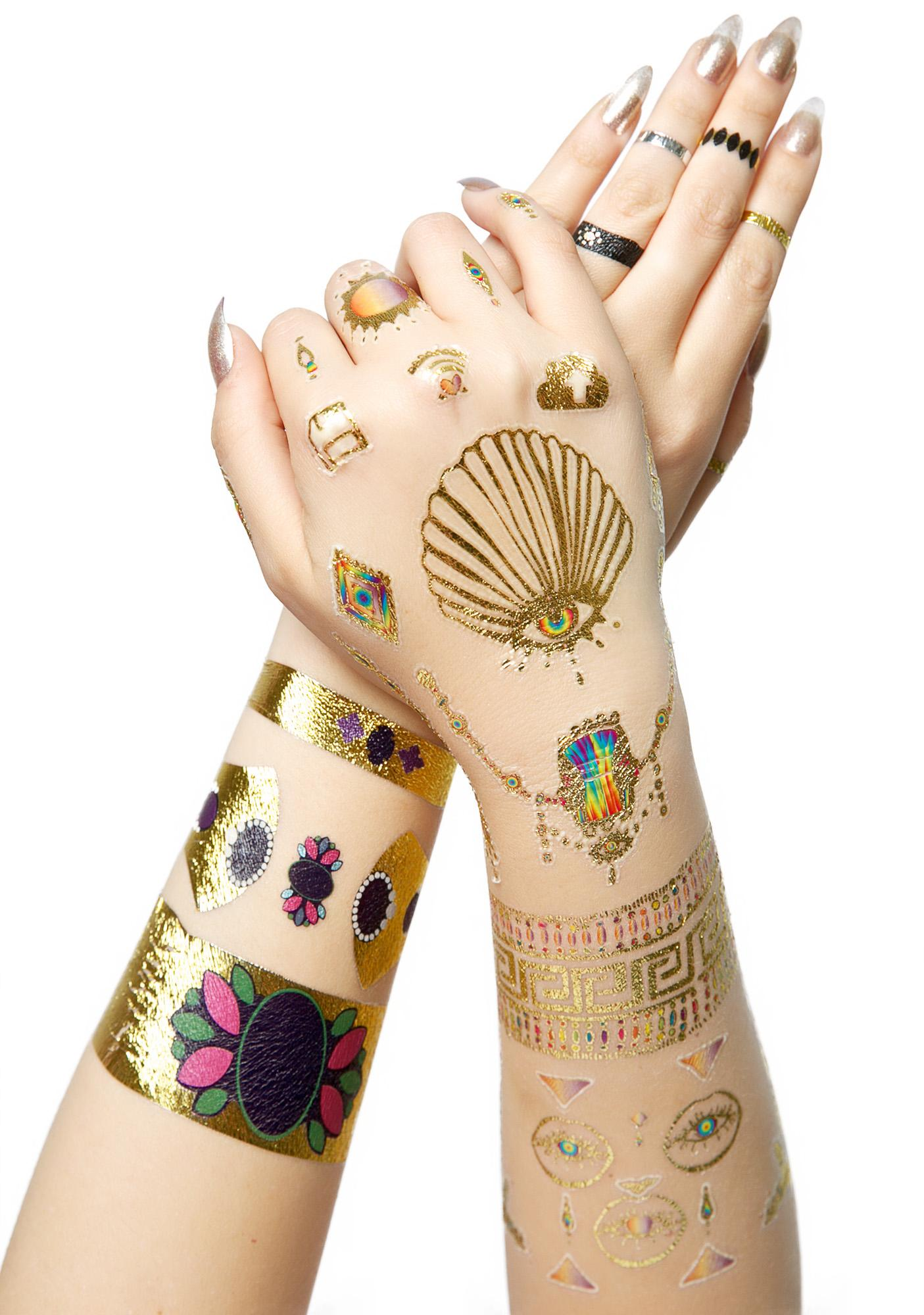 Be Bright Metallic Temporary Tattoos