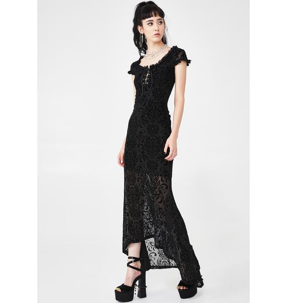 Killstar Haunt Me Maxi Dress