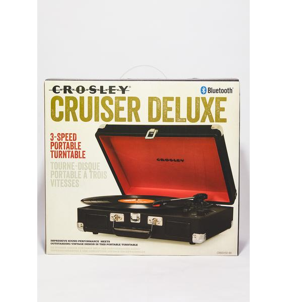 Crosley Onyx Cruiser Deluxe Record Player