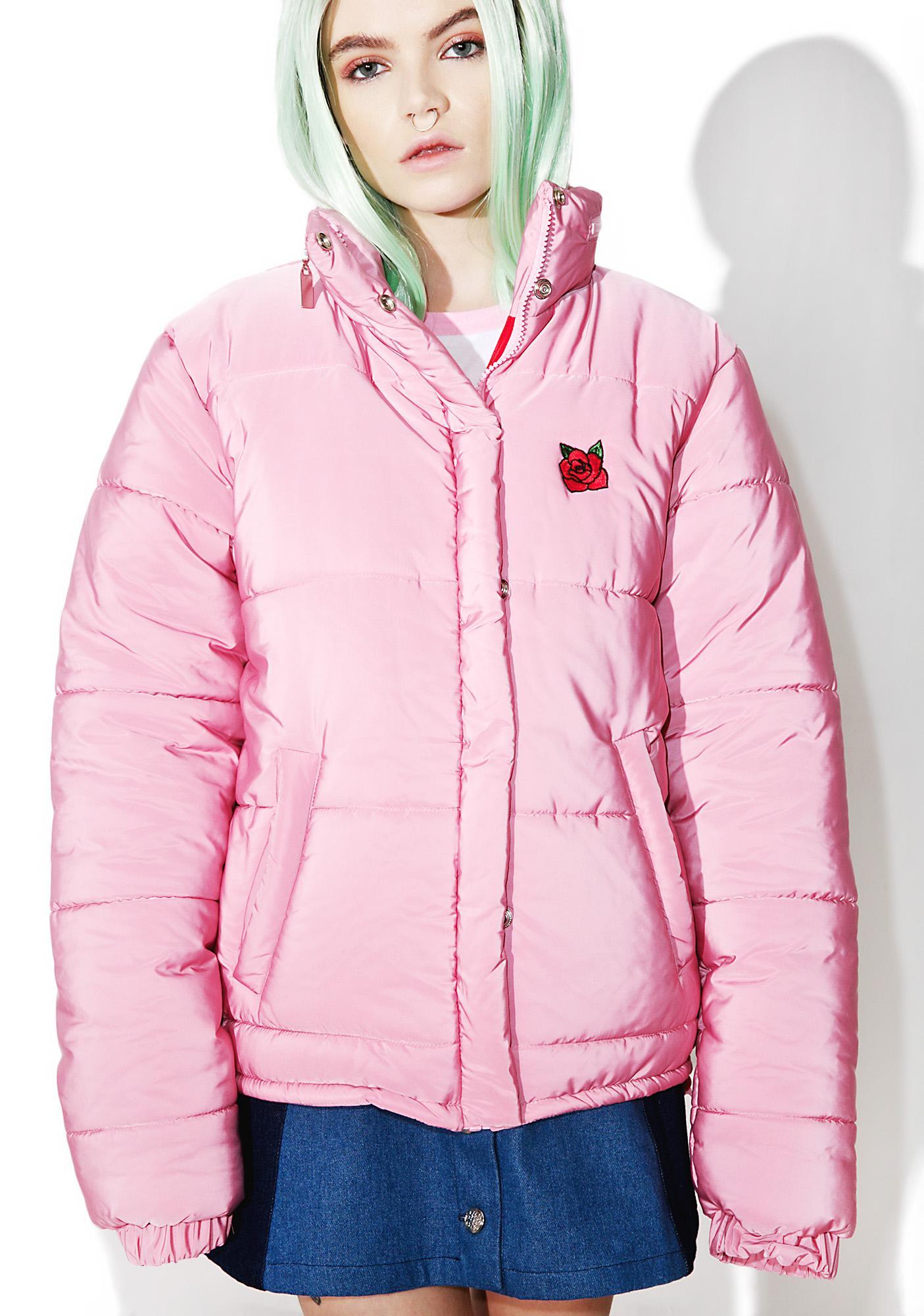Local Heroes Pink Puffa Jacket
