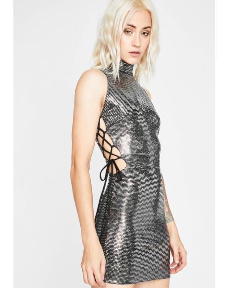 Chrome Jumpin' Jumpin' Mini Dress