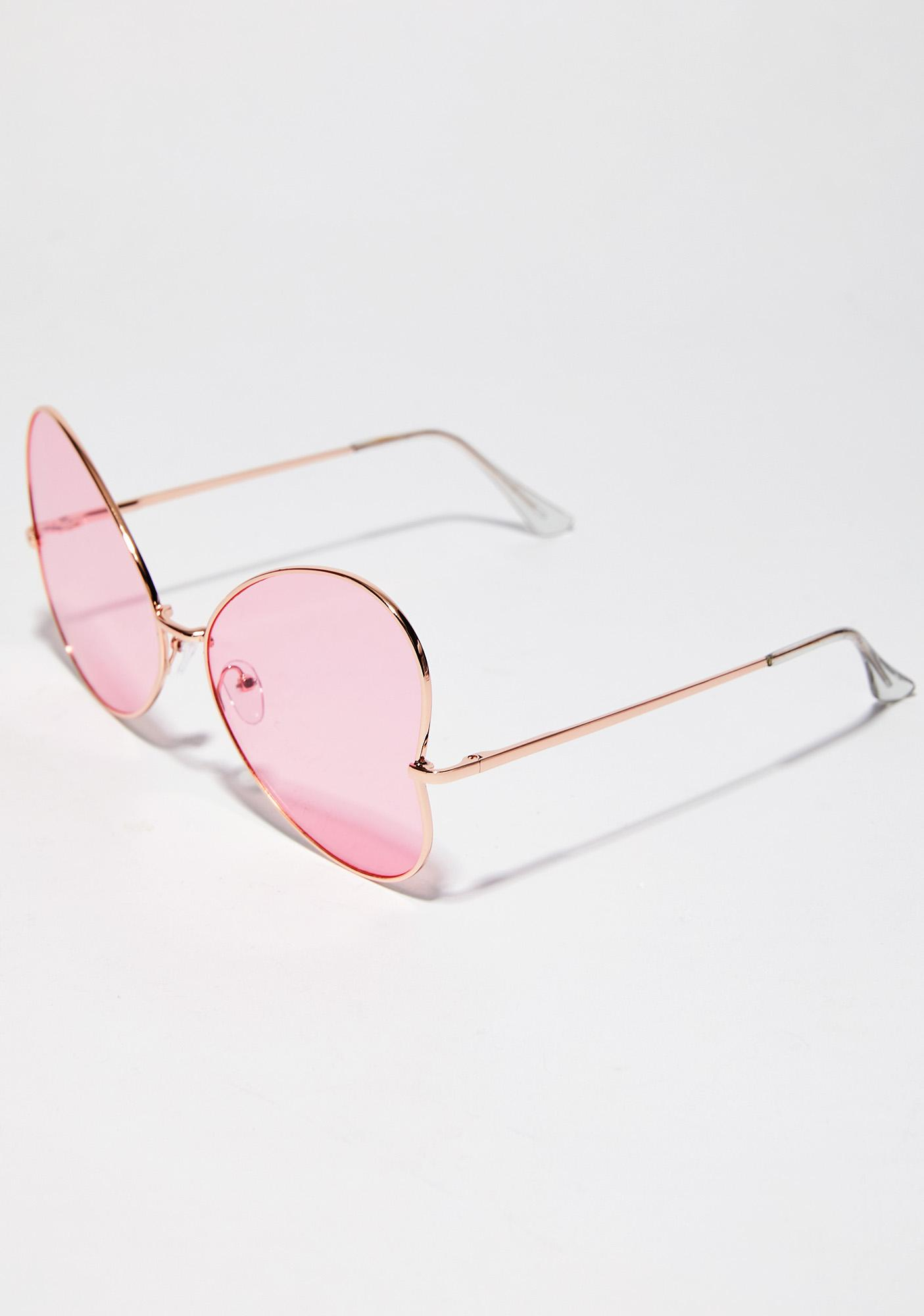 Flutter Away Oversized Sunglasses