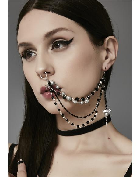 Exhibitionist Multi-Strand Nose Chain